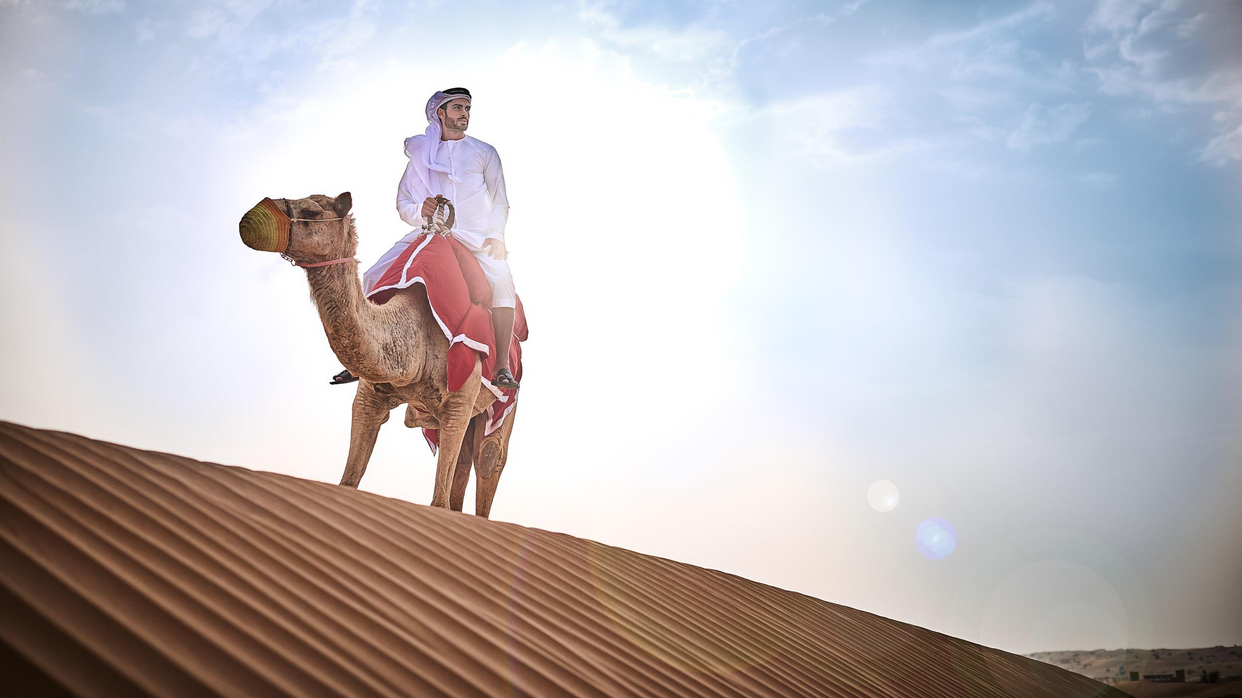 Bedouin. Dubai Desert.