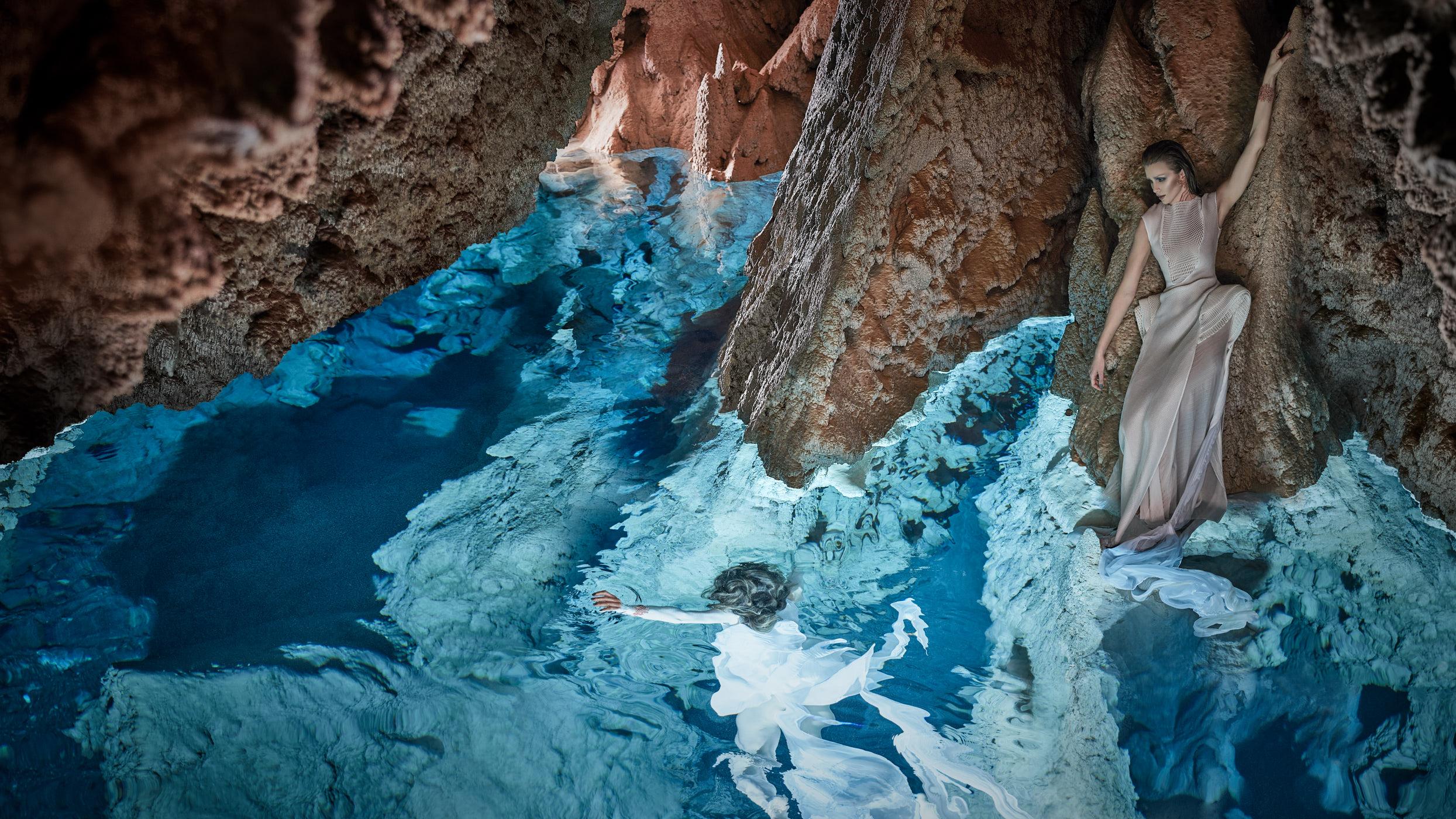The Naiad Nimphs at Grotta Giusti.