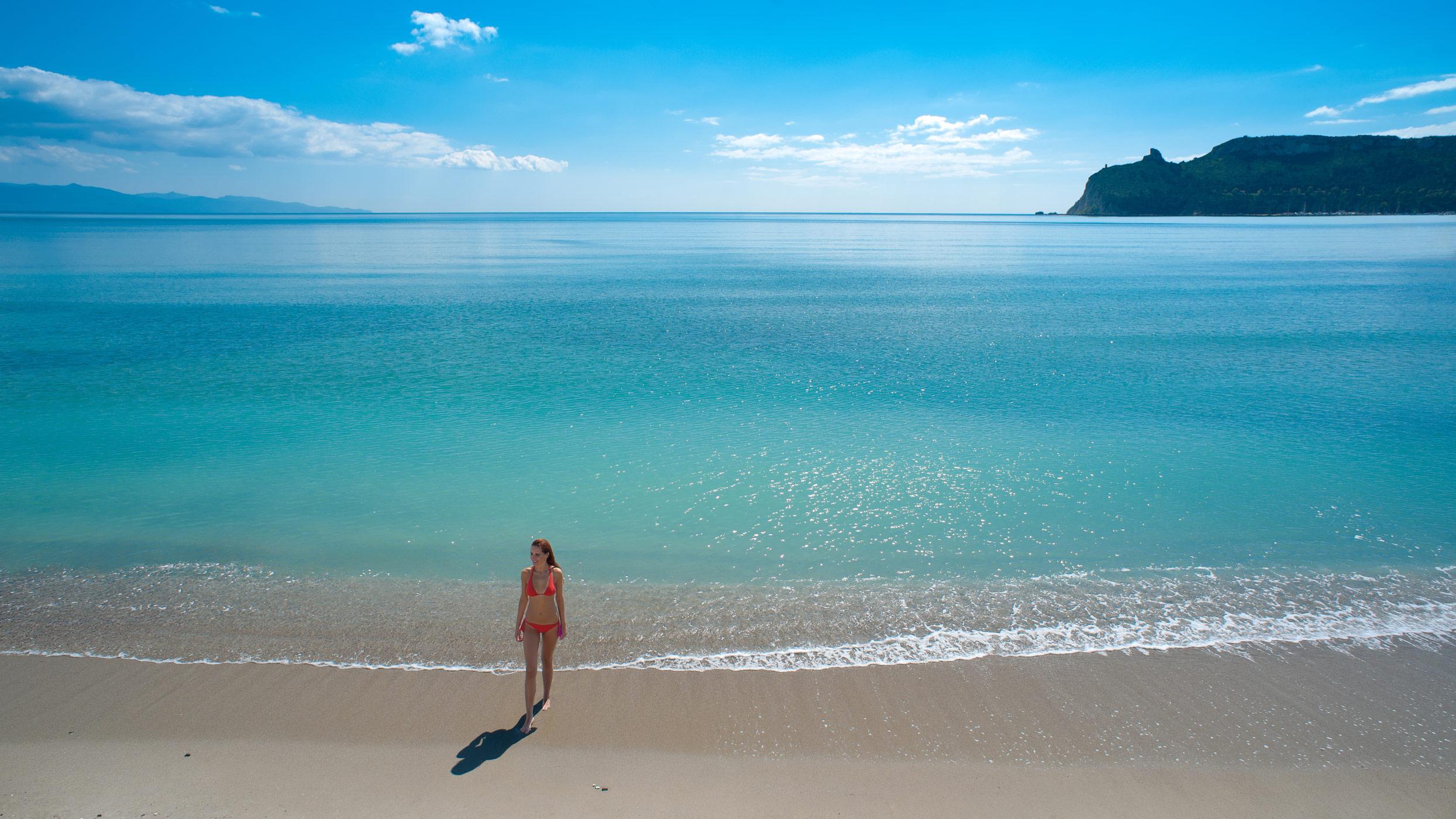 Poetto beach, Cagliari, Sardinia.
