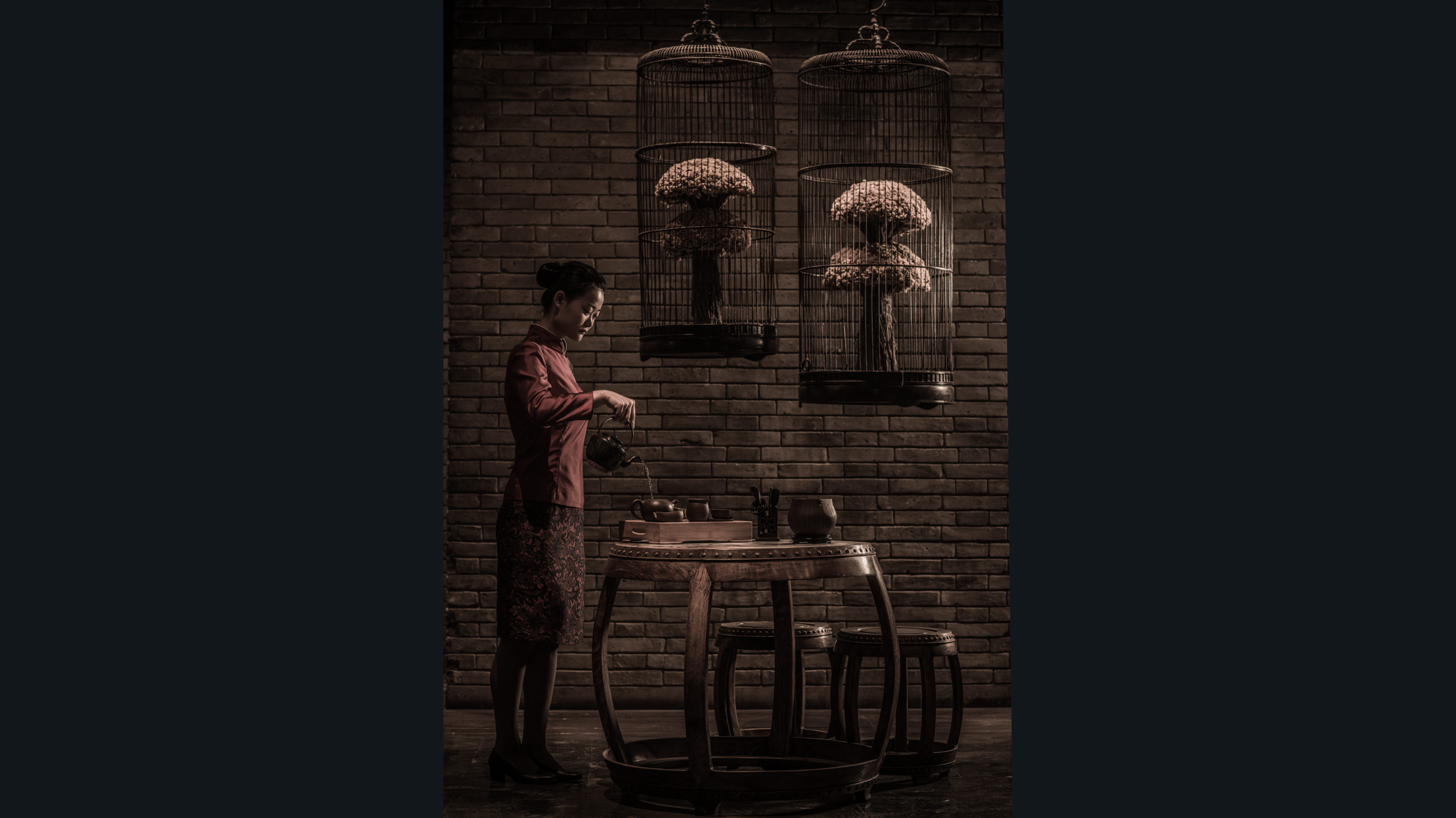 The tea pouring, Peninsula Beijing.
